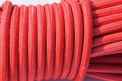 12mm*30m Red UHMWPE core with UHMWPE jacket Synthetic Rope,Plasma Winch Cable,Towing Ropes