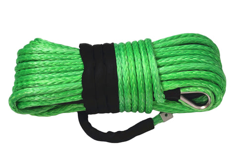 Free Shipping 16mm*40m Green Synthetic Winch Rope,Plasma Winch Cable for Offroad, Synthetic Rope