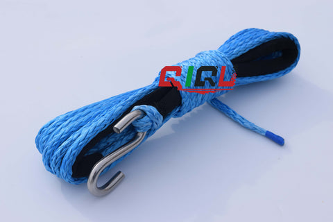 QIQU UHMWPE Trailer Winch Rope with S hook for Trailer Boat