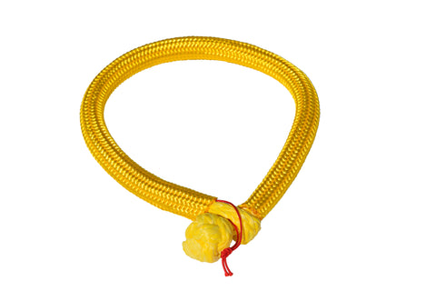QIQU yellow 6mm*150mm UHMWPE Fiber Braided Soft Shackle
