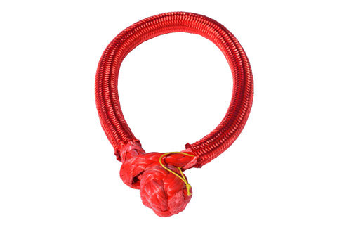 QIQU red 9mm*150mm UHMWPE Fiber Braided Soft Shackle