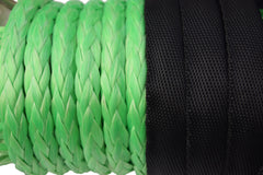 Green 12mm*45m Synthetic Winch Rope Replacement Winch Line,UHMWPE Rope