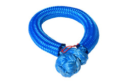 QIQU blue 14mm*150mm UHMWPE Fiber Braided Soft Shackle