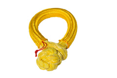 QIQU yellow 10mm*80mm UHMWPE Fiber Braided Soft Shackle