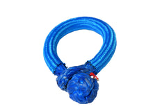 QIQU blue 10mm*80mm UHMWPE Fiber Braided Soft Shackle