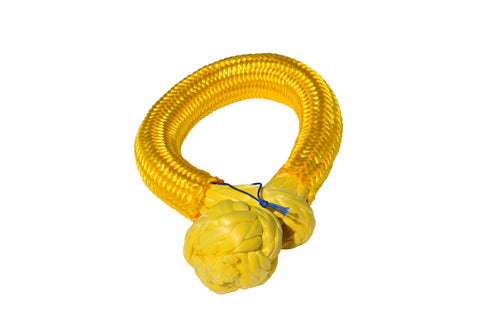 Pangu yellow 12mm*80mm UHMWPE Fiber Braided Soft Shackle