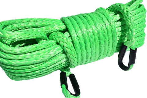 Green 12mm*45m Winch Rope Extension,Synthetic Winch Cable,Replacement Winch Rope,Plasma Winch Rope