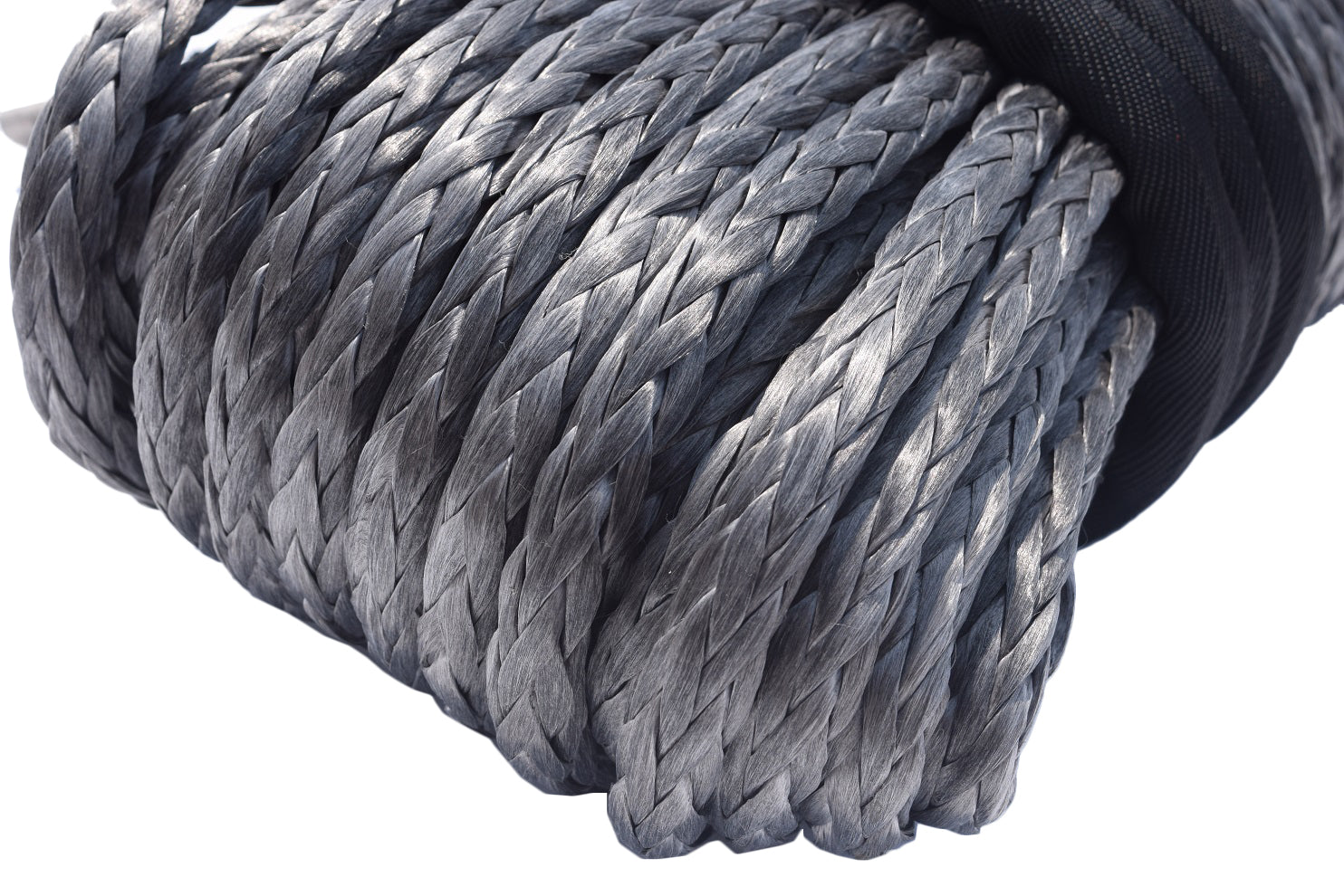 Grey 12mm*45m Synthetic Winch Rope with Hook,Plasma Winch Cable,4×4 Recovery Winch Cable for Accessaries,UHMWPE Rope