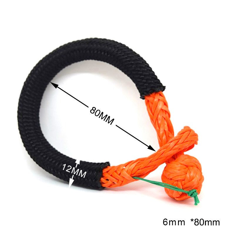 6mm*80mm UHMWPE Fiber Braided Soft Shackle