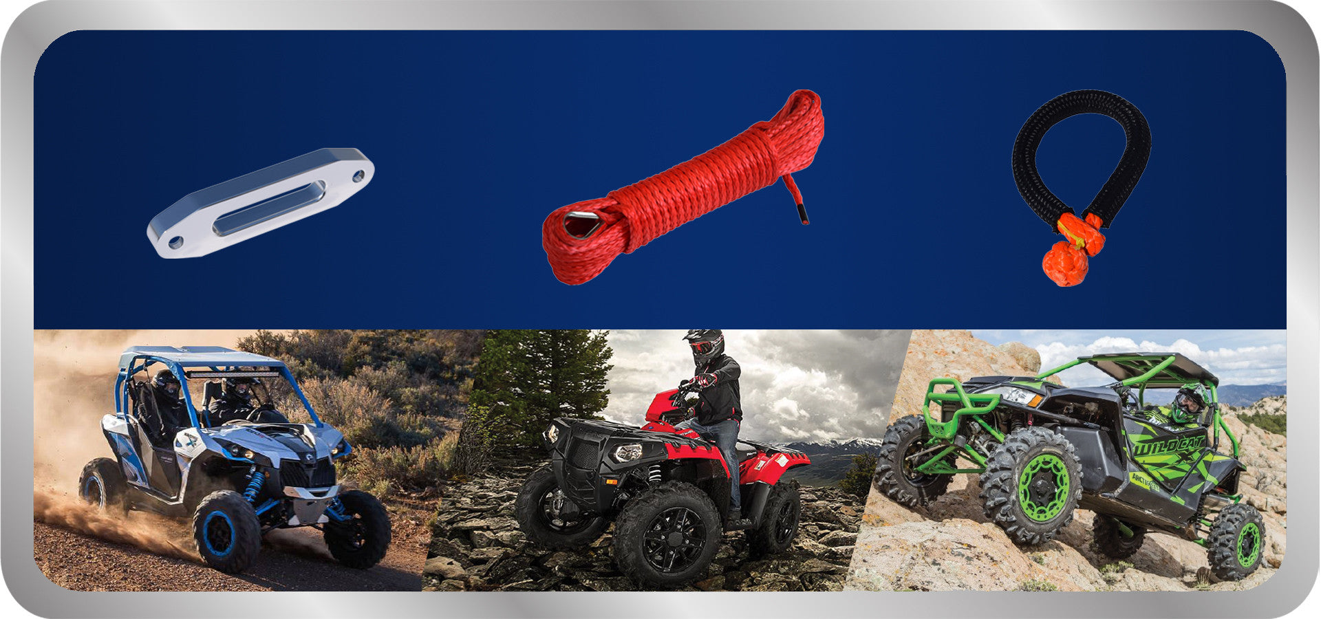 ATV synthetic winch rope