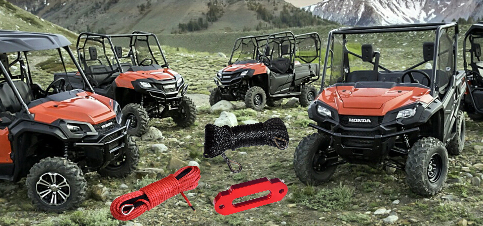 UTV synthetic winch rope