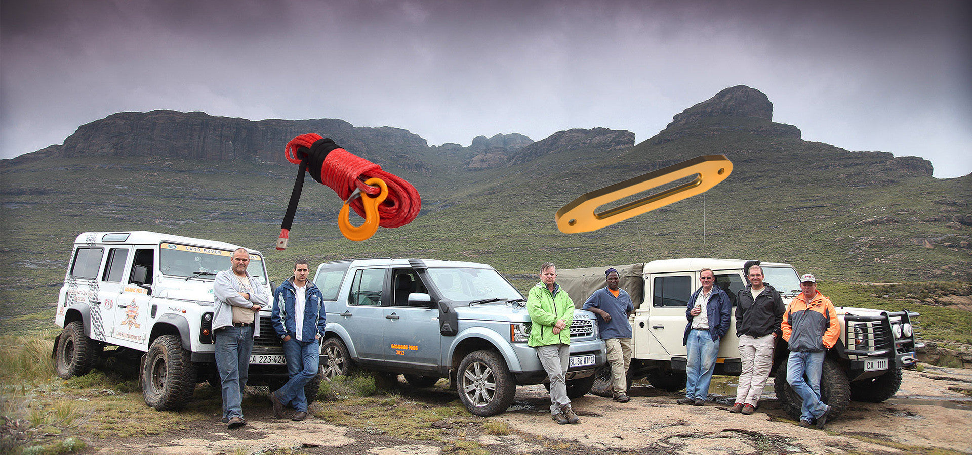 SUV winch rope