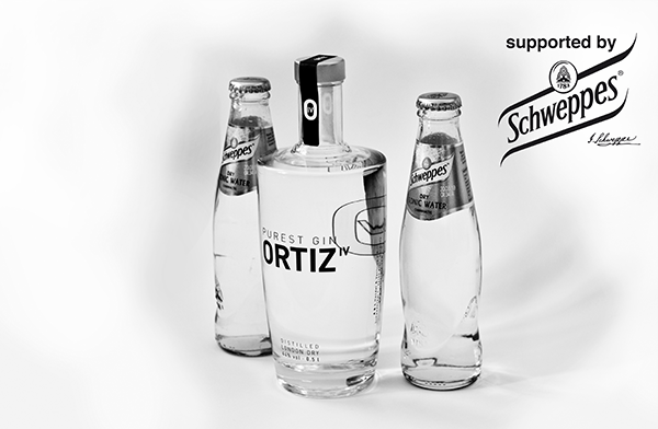1 bottle ORTIZ IV PUREST GIN 0.5l incl. 2 bottles Schweppes Dry Tonic 0.2l