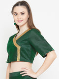 Dupion Block Printed Crop Top