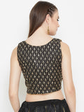Dupion Embroidered Crop Top