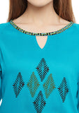 Cotton Viscose Hand Block Printed Tunic