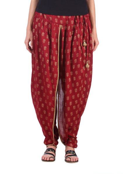 Cotton Viscose Hand Block Printed Dhoti