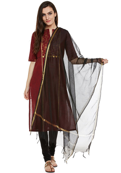 Faux Chanderi Crinkled Dupatta