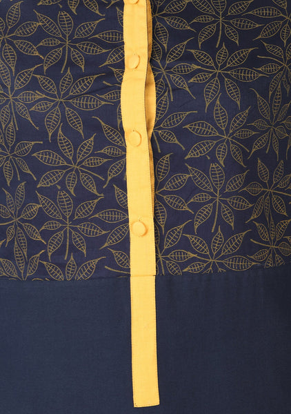Cotton Block Printed Yoke Kurta
