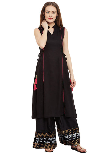 Cotton-Viscose-Block-Printed-Panelled-Kurta