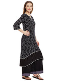 Cotton Hand Block Printed Embellished Kurta Set