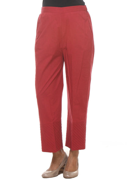 Cotton Pintucks Panelled Pants
