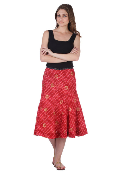 Cotton Hand Block Printed Kalidaar Skirt