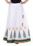 Cotton Hand Block Printed Border Skirt