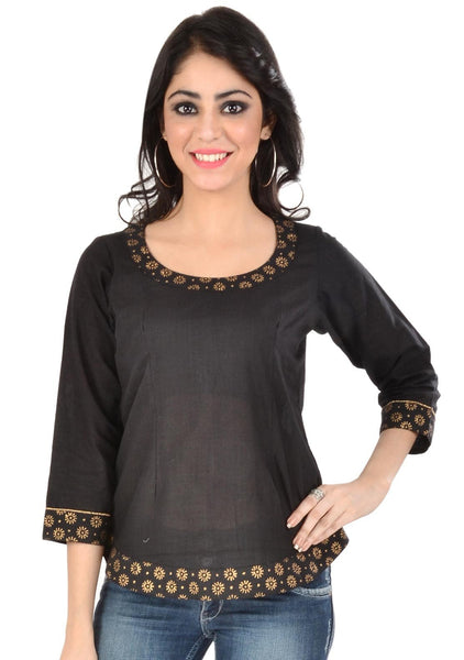 Mangalgiri Cotton Block Printed Top