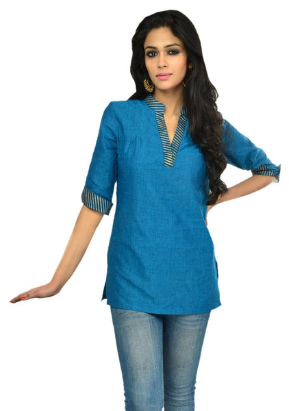 Mangalgiri Cotton Hand Block Printed Tunic