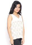 Cotton Malmal Hand Block Printed Flared Top