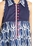 Cotton Hand Block Printed Embellished Tunic