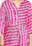 Cotton Viscose Tie & Dye Embellished Tunic