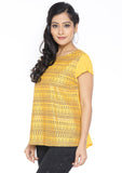 Cotton Viscose Block Printed Top