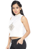 Cotton Malmal Crop Top