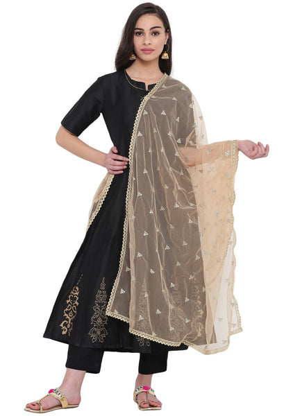 Net Sequins Embellished Dupatta