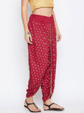 Cotton Viscose Hand Block Printed Embellished Dhoti