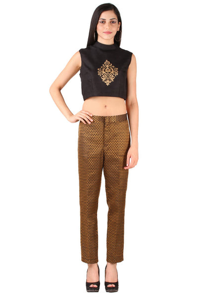 Semi Brocade Straight Pant