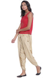 Cotton Viscose Hand Block Printed Dhoti Set