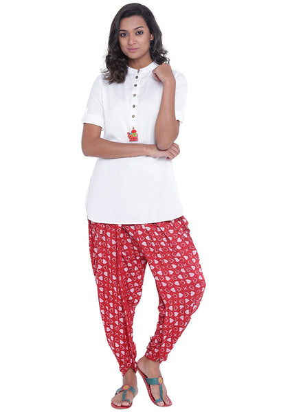 Cotton Viscose Printed Dhoti Set