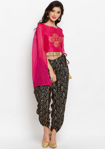 Cotton Viscose Block Printed Dhoti Set