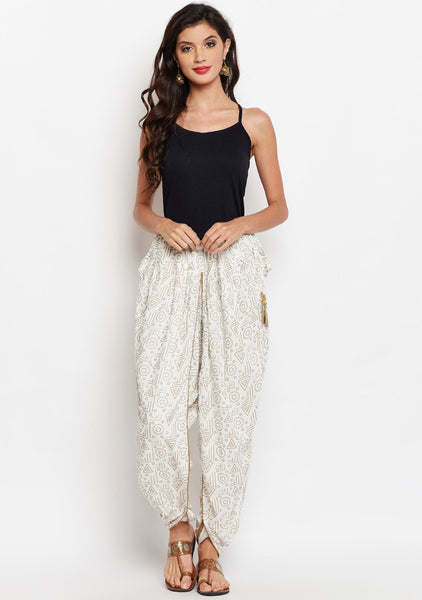 Studiorasa Cotton Viscose Block Printed Dhoti