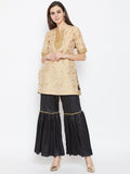 Polysilk Tiered Embellished Sharara