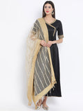 Organza Linear Foil Embroidered Dupatta