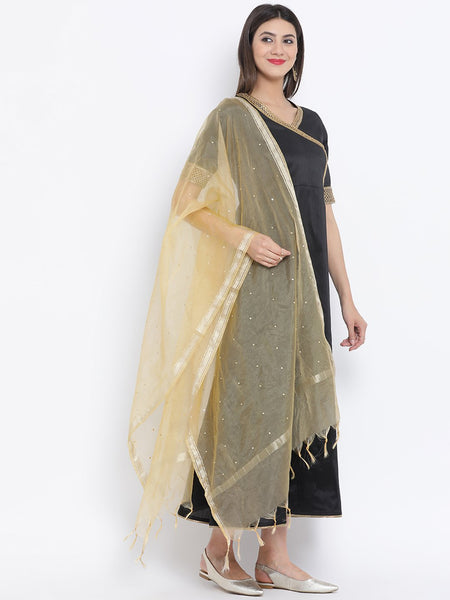 Faux Chanderi Embellished Dupatta