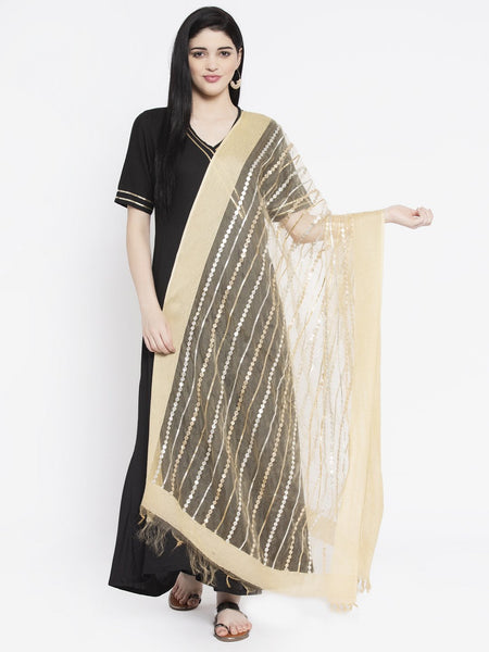 Organza Gota Embroidered Embellished Dupatta