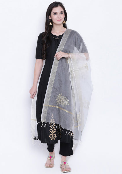 Faux Chanderi Embroidered Dupatta