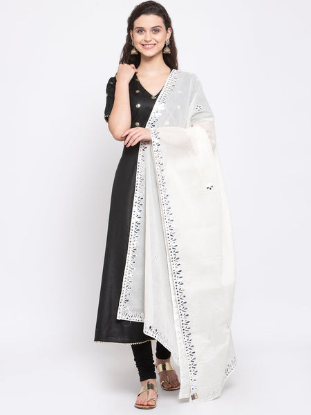 Cotton Foil Embroidered Dupatta