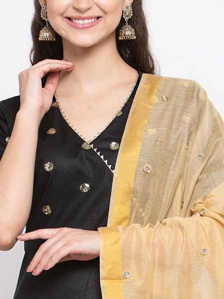 Chanderi Crystal Embellished Dupatta