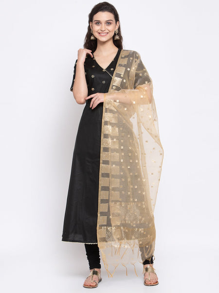 Chanderi Woven and Embellished Dupatta